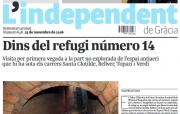 Part central de la portada del nou L'Independent
